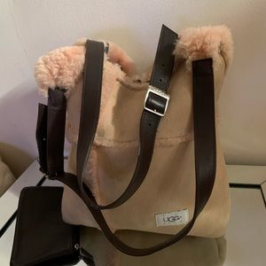 Shearling Dust Pink Ugg Tote.